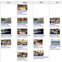 Week Calendar Classes