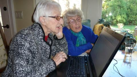 Seniors registering at home
